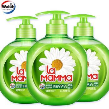 威露士妈妈壹选洗手液家用便携式健康抑菌清新香气250ml*3瓶