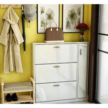 潮土创意时尚超薄鞋柜烤漆玄关鞋柜
