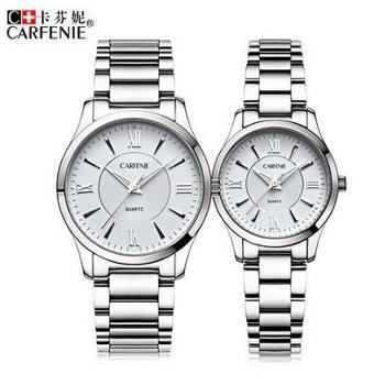 卡芬妮商务手表石英表防水男女对表时尚情侣表时尚腕表CF6004