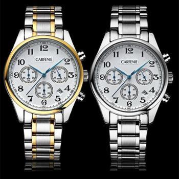 卡芬妮 男士钢带手表CF5001M 新款时尚多功能石英表电子手表防水