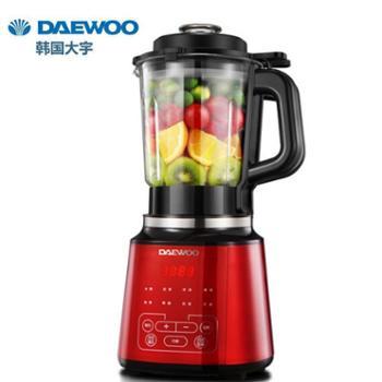 韩国大宇DAEWOO 触控大屏 2L智能加热破壁机 豆浆果汁辅食料理