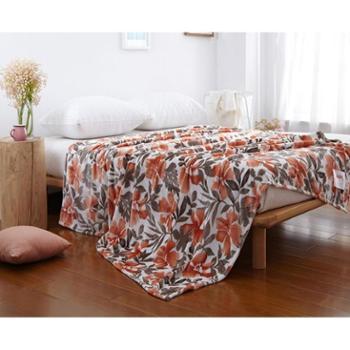 恒源祥家纺 柔软舒适法兰绒毯子单双人午休盖毯珊瑚绒毛毯 8款可选