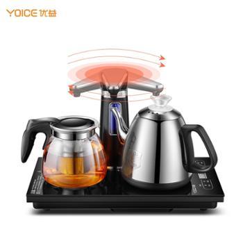 优益 全自动上水电热水壶 YC301 304不锈钢,保温烧水壶