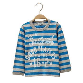 纯棉时尚条纹儿童长袖卫衣厂家直销价格实惠质量放心春秋时尚爆款
