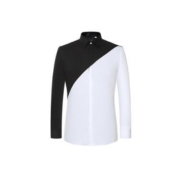 【虾想定制】黑白系列-培迪商务休闲衬衫