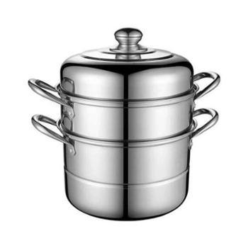Debo德铂二层多用不锈钢双层蒸煮锅汤锅蒸笼电磁炉通用菲尔DEP-239 蒸炖煮锅26cm