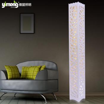 YimengLED创意田园落地灯现代简约客厅沙发卧室床头雕花落地台灯调光418