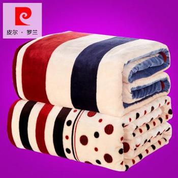 毛毯加厚双人珊瑚绒毯子毛巾被单人午睡盖毯 冬季保暖法兰绒床单