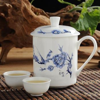 创意陶瓷杯 办公室水杯茶杯 马克杯带盖 杯子陶瓷 骨瓷杯 咖啡杯