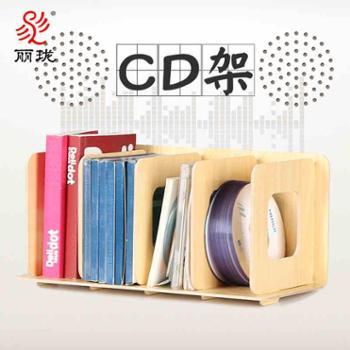 丽珑CD架木质收纳创意展示架DVD光碟影片架光盘储物柜盒子F1003