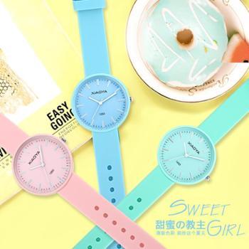 新款韩版小清新手表女时尚简约可爱中学生儿童石英表个性ulzzang