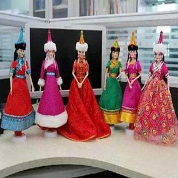 民族特色蒙古娃娃珍藏工艺品摆件哈啾嗨蒙古格格系列之旅游版格格