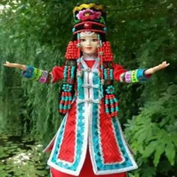 民族特色蒙古娃娃珍藏客厅工艺品摆件哈啾嗨鄂尔多斯格格