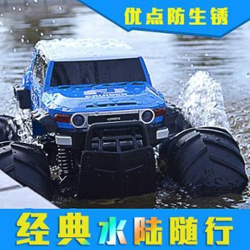 耐摔充电遥控汽车高速水陆两栖大脚越野遥控车男孩儿童玩具模型
