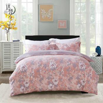 远梦四件套双人床1.8m1.5米床植物花卉套件床单被套4件套床上用品