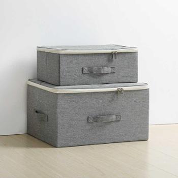 天纵收纳箱布艺有盖衣柜收纳盒整理箱衣服箱子衣物储物盒折叠大号生活用品床上用品