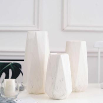 月光走廊简约现代ins风大理石纹陶瓷花瓶花器摆件