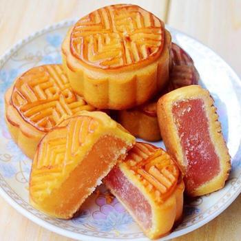 津之源撒装水果味月饼多口味混合装1000g