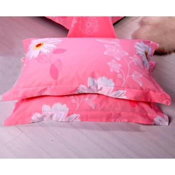 锦华家纺 纯棉枕套 全棉平纹印花枕套 枕芯套 单人双人学生枕头套一对装