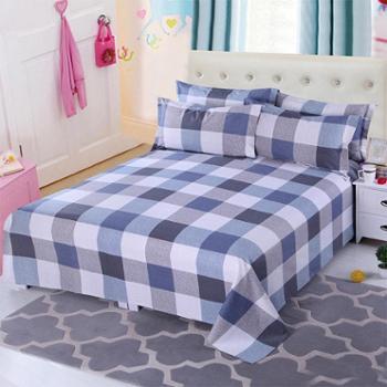 锦华家纺全棉老粗布双人床单2.0*2.3米