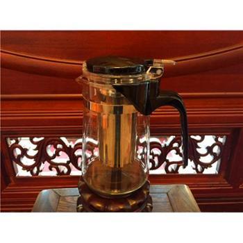 【展艺】飘逸杯 泡茶杯 茶壶 快速泡茶 玻璃冲茶器懒人杯500ml(款式随机发货)