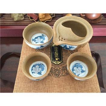 【展艺】三件套 陶瓷茶具 旅行茶具 快客杯 功夫茶具