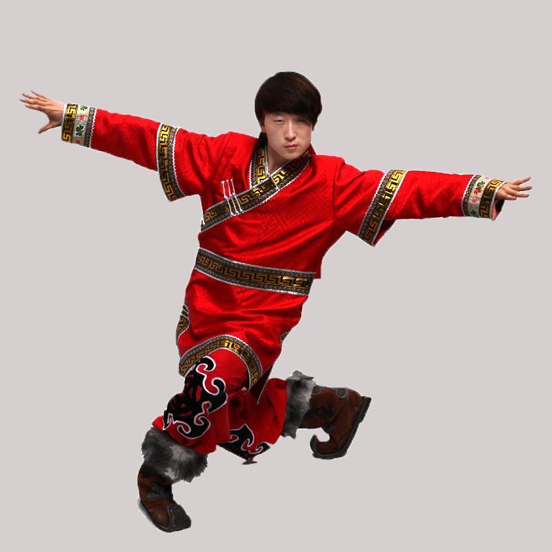 蒙古族特色服饰男士蒙古袍演出服装