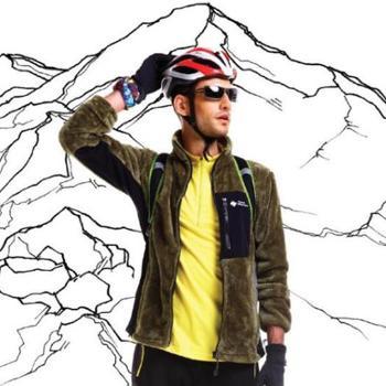 瑞士高端品牌/谷瑞盟新款户外男珊瑚绒卫衣男士休闲抓绒软壳外套