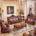 欧式真皮沙发 实木雕花别墅高档客厅组合 进口头层牛皮艺沙发2118深色