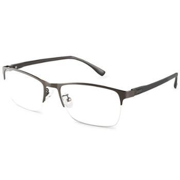 【0元配镜】TILU天禄眼镜男款商务可配近视半框眼镜架J00382