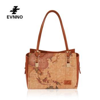 意威诺(evnno)单肩手提 大容量 限量地图款式 B818-16