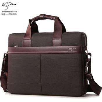真澳袋鼠男包手提包牛津布公文包男商务电脑包帆布单肩包文件包