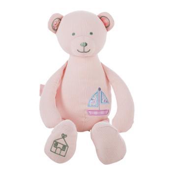 宝宝睡觉安抚玩具布艺可入口新生婴儿可以咬的布偶毛绒玩偶熊睡眠