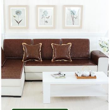 玉竹夏季沙发垫麻将坐垫巾罩套竹凉席防滑全包全盖夏天款欧式凉垫定做