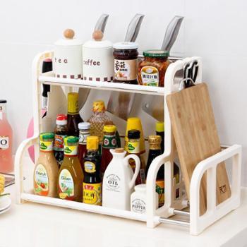 多功能置物架2层收纳架厨房调味架双层置物架菜板架