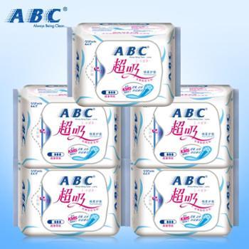 ABC天然花香超吸棉柔护垫22片*5包共110片