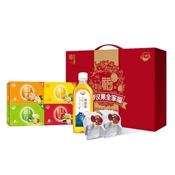 罗汉果全家福礼盒装(甘鲜神果+罗汉果鱼油饮液+罗汉果桂花茶+罗汉果菊花茶)