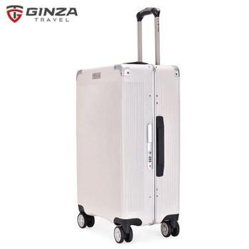 【银座】新款铝框拉杆箱万向轮登机旅行箱密码锁行李箱20寸货号:A-9011K