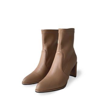 自由绽放KISSQUEEN弹力超纤单里绒里可选透气舒适女短靴B09-1