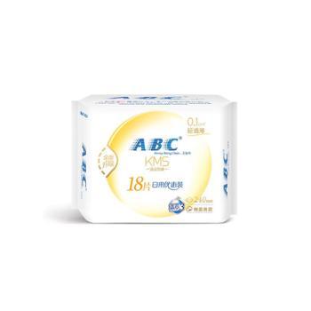 ABC卫生巾日用轻透薄棉柔表层超薄姨妈巾240mm*18片
