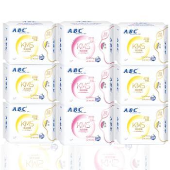ABC卫生巾绵柔纤薄姨妈巾240mm日用6包+280MM夜用3包