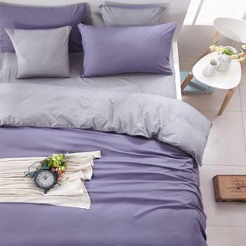 简约纯色1.8床上用品四件套4被套学生宿舍单人床单三件套床笠