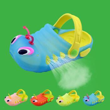 1-4岁宝宝学步鞋毛毛虫儿童拖鞋男女童透气洗澡浴室防滑凉拖鞋