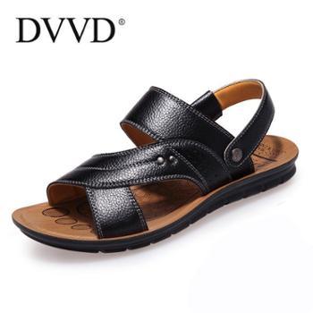 夏季男士凉鞋真皮沙滩鞋男休闲鞋2016新款皮凉鞋牛皮露趾凉拖鞋