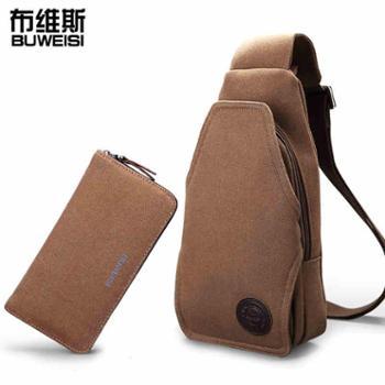 送手包胸包男士休闲帆布包小包斜挎包韩版单肩包潮背包腰包男包包1