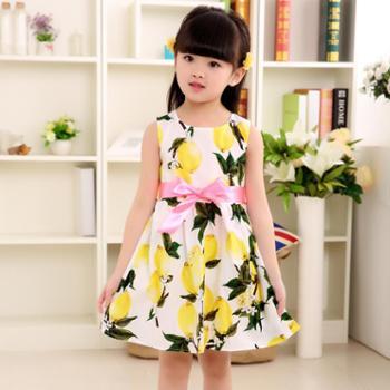 女童连衣裙童装儿童夏季新款女孩淑女韩版公主裙碎花裙子纯棉