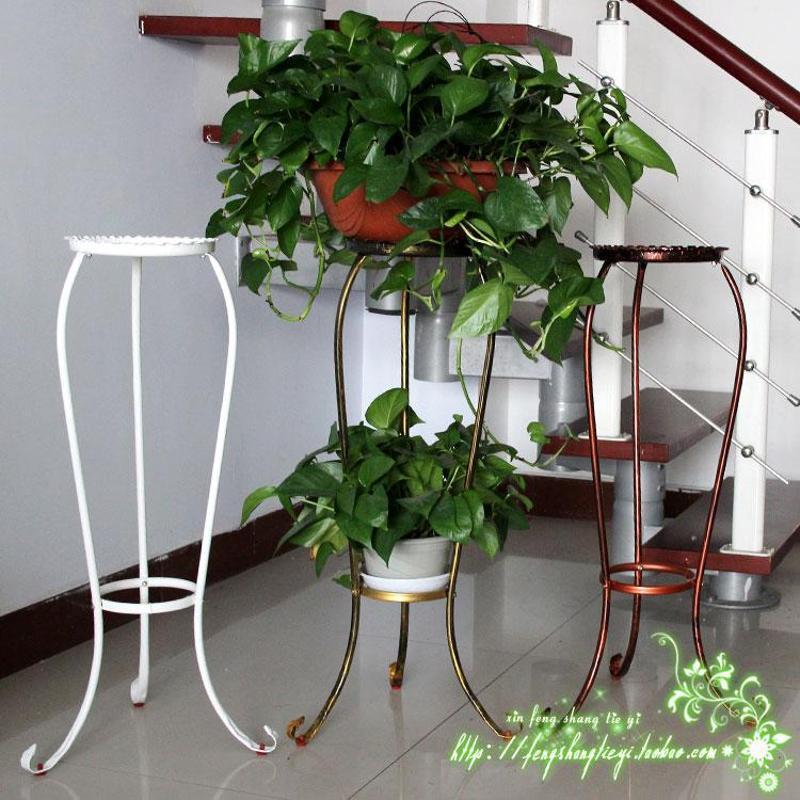 欧式简约室内吊兰绿萝花架阳台落地式铁艺花架多层花架花盆架特价
