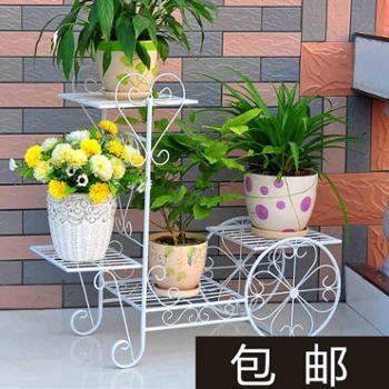 铁艺花架落地花盆架欧式客厅阳台多层折叠绿萝吊兰花架子特价花几