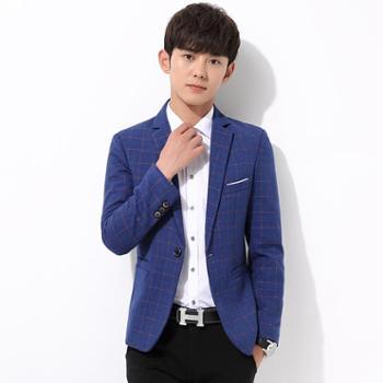 秋季男士休闲西服男韩版修身薄款青年小西装外套男便西潮英伦上衣SLS5902