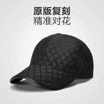 新款格纹帽子黑色棒球帽男女士鸭舌帽四季帽运动防晒遮阳帽潮